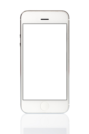 palmtop: White Smart Phone Isolated on WhiteBackground