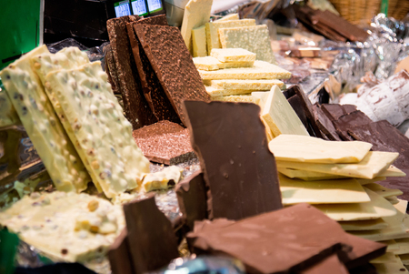 things that go together: View of lots of milk chocolate