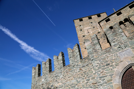 The Fenis Castle in Aosta Valley, Italy Stock Photo