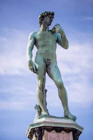 Copy of Michelangelos David in Piazzale Michelangelo, Florence, Italy