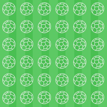 Soccer ball pattern. Green background Foto de archivo - 134866949