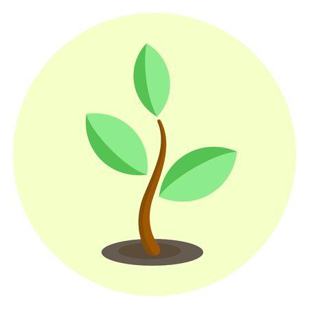 Simple plant bud icon