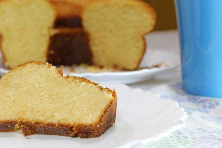 Delicious and tasty homemade vanilla cake Imagens