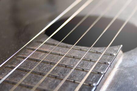 Guitar strings details background