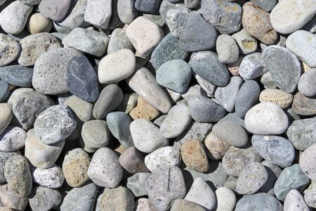 Background of various pebbles