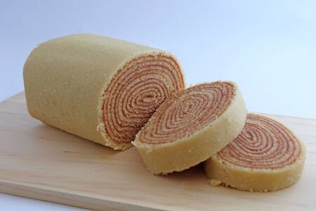 Slices of roll cake