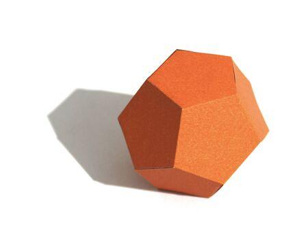 Regular polyhedron with twelve faces. Dodecahedron Archivio Fotografico