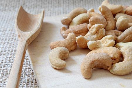 Portion of cashews with salt Stock fotó