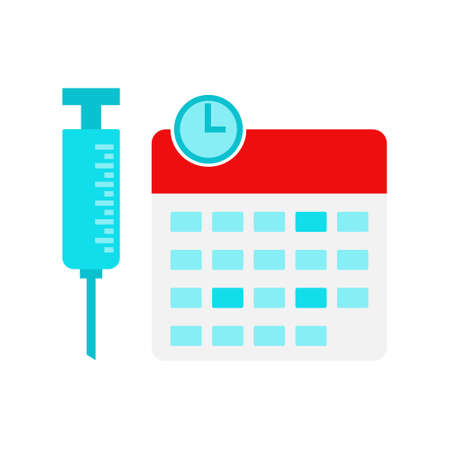 Vaccination calendar illustration, dates and times for vaccine