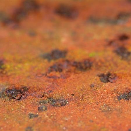 macro of rusty iron surface Stock Photo