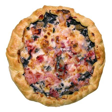 Italian pizza with ham, cheese and mushrooms Stock Photo