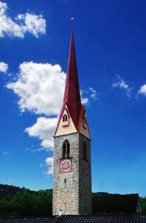 steeples: steeple in South Tyrol, Italy Stock Photo