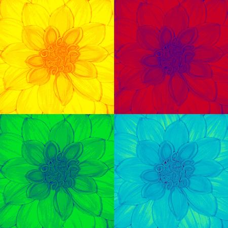 pop art dahlia,flower