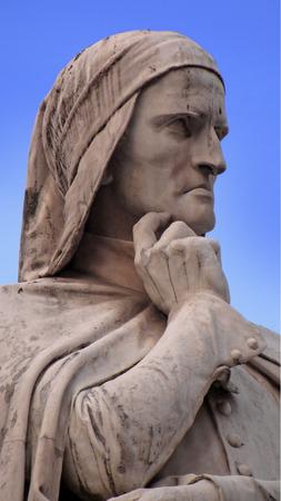 dante alighieri: Dante Alighieri portrait in Verona, Italy