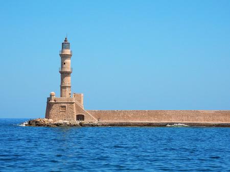チャニア、クレタ島、地中海の灯台