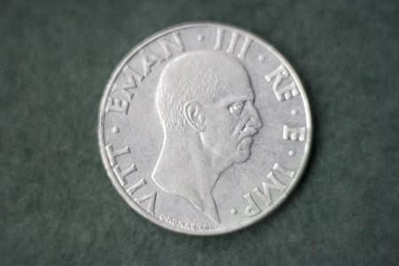 vittorio emanuele: 50 cent. Lira coin showing Vittorio Emanuele King of  Italy