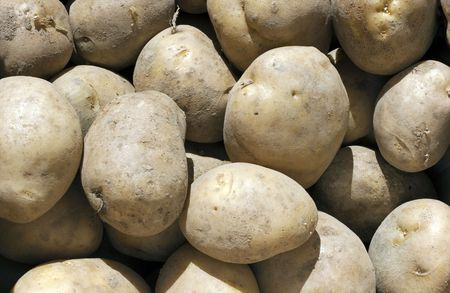 Fresh Potatoes Background Stock Photo - 7926790