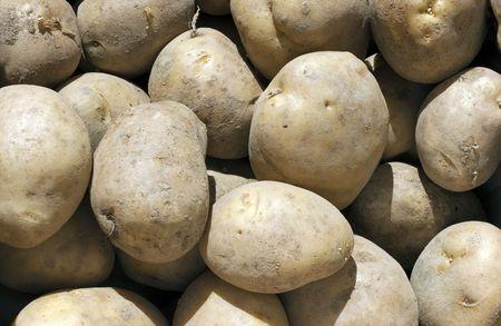Fresh Potatoes Background Stock Photo - 7926790