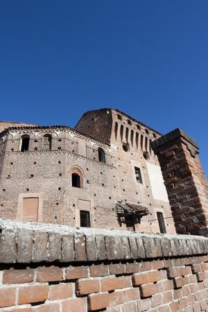 medioeval: view of Castellazzo Novarese,medioeval  castle