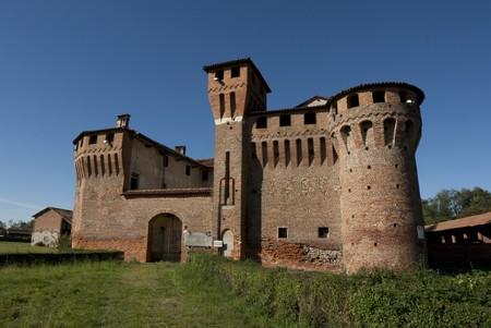 medioeval: Castello di Proh (Sec. XV - XVI) medioeval castle in Novara Italy