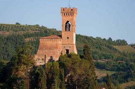 medioeval: medioeval clock tower Brisighella ancient italian small town