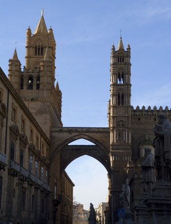 Famous Cathedral of Palermo in Sicily, Italy  Stock Photo - 9110085