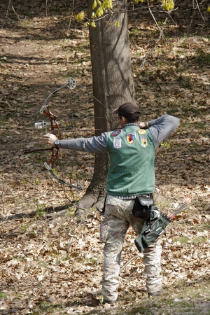 April 17th 2011, Italy field archery  competition at Madonna del Sasso, Novara