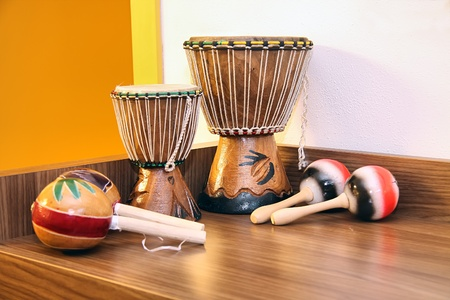 traditional musical instruments from Africa and south america