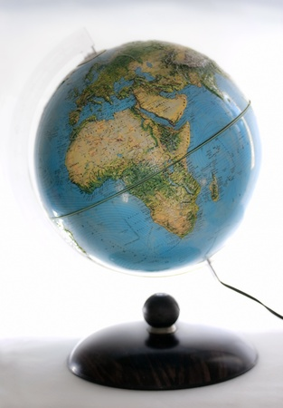 close up of globe on white background Stock Photo - 10892628
