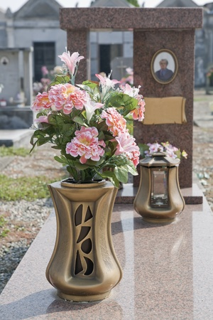 Colorful silk flower vase in a cemetery stock photo picture and colorful silk flower vase in a cemetery stock photo 10892723 mightylinksfo