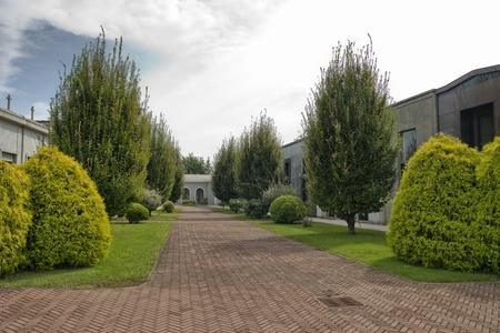 modern cemetery, graveyards and garden