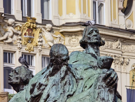 Jan Hus Monument, Prague Old Town Square, Czech Republic