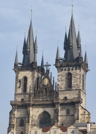 tyn: Tyn Cathedral in Prague, Czech Republic