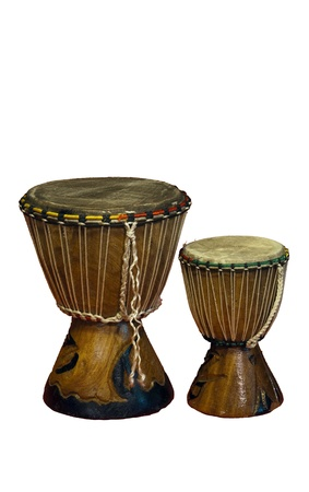 bongos: traditional African bongos isolated over white