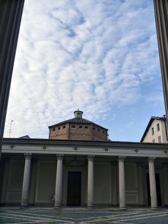 Baptistery, Ancient architecture in Novara, Italy