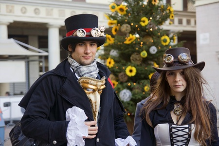 NOVARA, ITALY - DECEMBER 18: Heroes in costume participate  at  Be A Superhero Contest