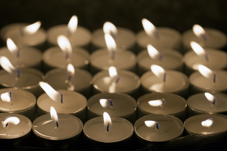 Light of Candles in a Church  photo