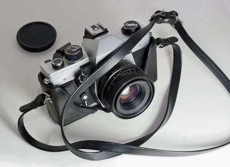 eighties: old reflex camera slr from the eighties Stock Photo
