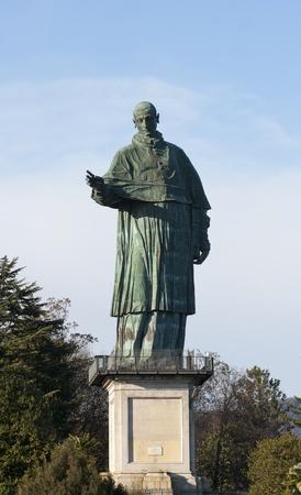 arona: Giant statue of San Carlo Borromeo in Arona, Italy