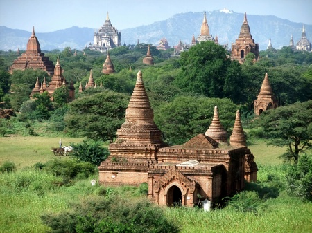 fascinate: Ancient Buddhist temples in Bagan, Myanmar Stock Photo