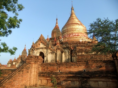 Ancient Buddhist temples in Bagan, Myanmar Stock Photo