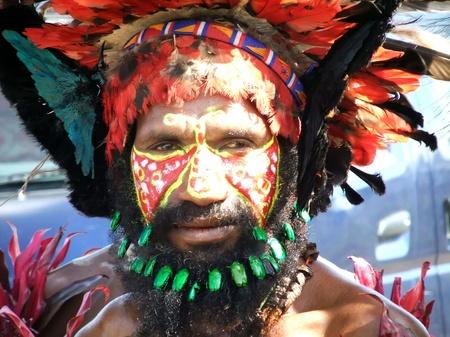 PAPUA, NEW GUINEA - SEPTEMBER 16: Papua warrior at Goroka Tribal Festival. Papua New Guinea on September 16, 2011 Editöryel