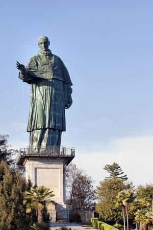 arona: statue of San Carlo Borromeo in Arona, Italy