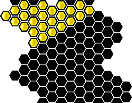 Hive Vector Illustration, Hexagonal honeycomb background  Vector