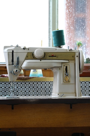 vintage sewing machine from the seventies photo