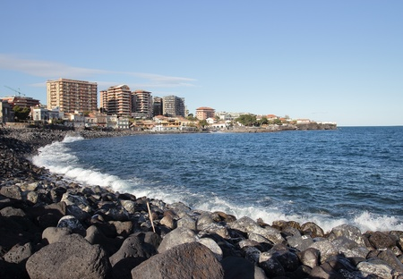 ionio: The seafront of Catania in Sicily, Italy