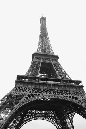 Paris Symbol, Tour Eiffel in a black and white shot Stock Photo - 12907870