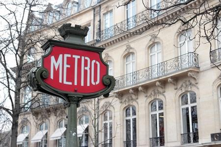 paris vintage: Signo Metro Retro en París, Francia