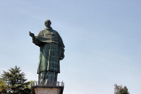 arona: giant statue of San Carlo Borromeo, Arona , Italy
