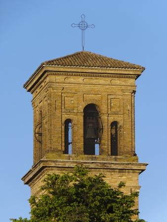 abbazia: ancient Cistercians  Abbey, close up of the  bell tower, Alseno, Piacenza, Italy